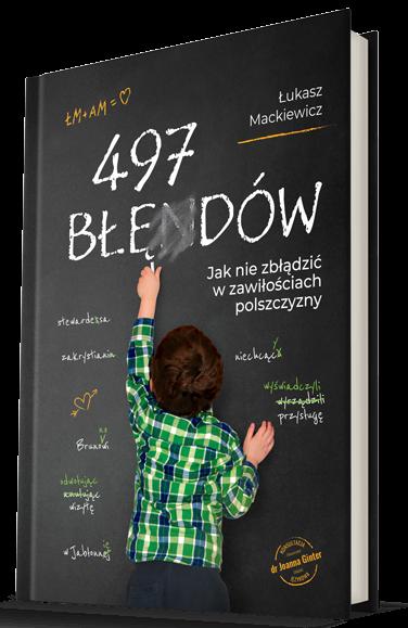 """okładka """"497 błędów"""""""
